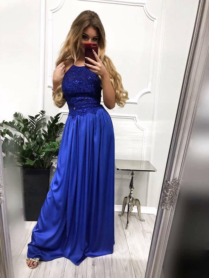 17a708275080 Dámske spoločenské šaty v modrej farbe empty