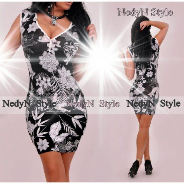 4b52295e3 Dámske vzorované šaty v čierno bielej farbe empty