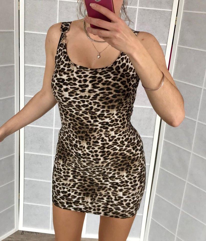 ac9ab31d8a0a Kompletné špecifikácie. Dámske sexy leopardie mini šaty ...